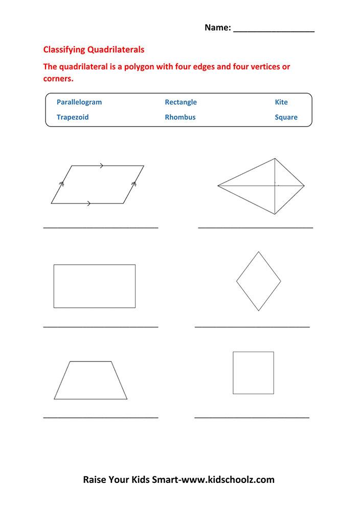 Grade 5 Geometry Shapes Worksheet Kidschoolz
