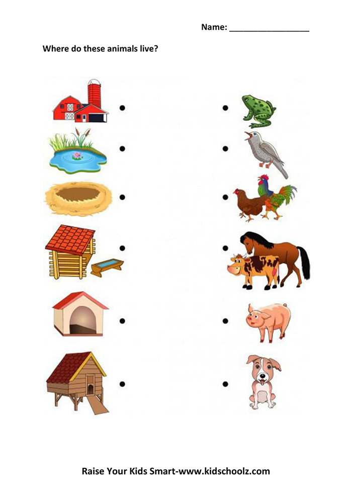 Ukg Matching Worksheet Animals Kidschoolz. Leave A Reply Cancel. Kindergarten. Where Animals Live Worksheets For Kindergarten At Clickcart.co